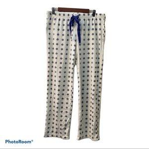 Flirtitude Polka Dot Fleece Pajama Bottoms Large